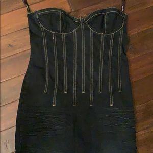 Baby Phat Jean Co denim Strapless Dress Sz 13 Jrs